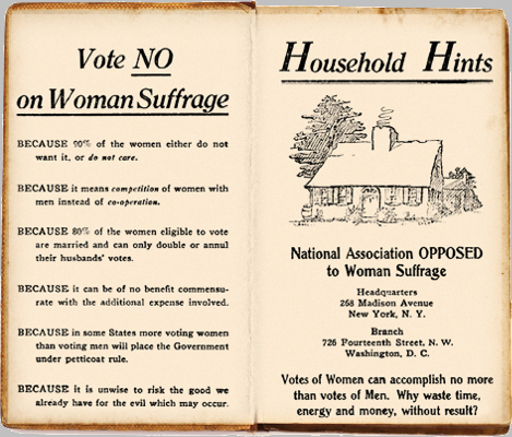Anti-Suffrage Pamphlet c.1917